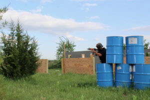 The Town Paintball Field action